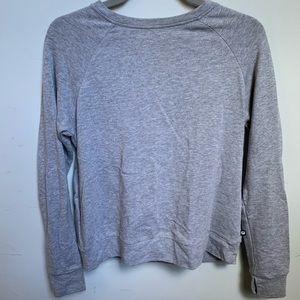 Fabletics Open Back Grey Sweatshirt in Small